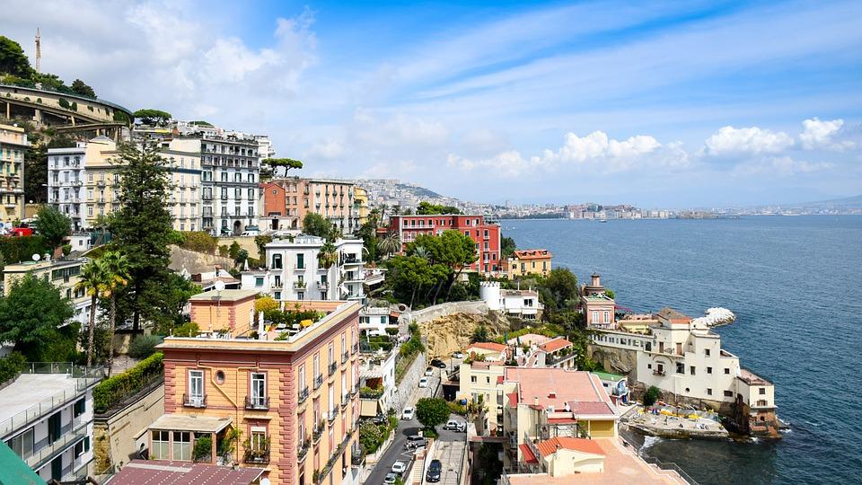 se baigner à Naples